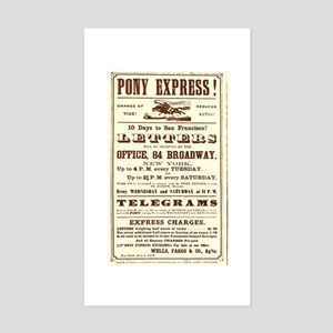 Pony Express Vintage Poster 2 Sticker