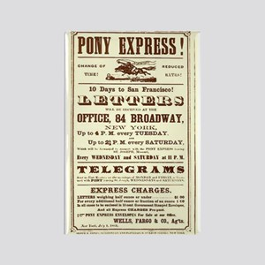 Pony Express Vintage Poster 2 Magnets