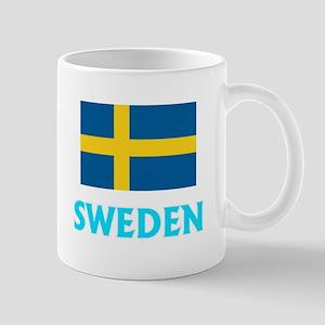 Sweden Flag Classic Blue Design Mugs