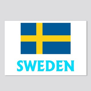 Sweden Flag Classic Blue Postcards (Package of 8)