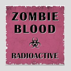 ZOMBIE BLOOD Tile Coaster