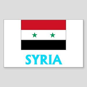 Syria Flag Classic Blue Design Sticker