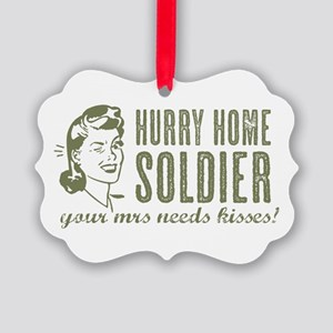 Hurry Home Soldier Ornament