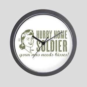 Hurry Home Soldier Wall Clock