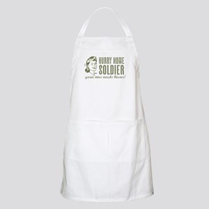 Hurry Home Soldier Light Apron