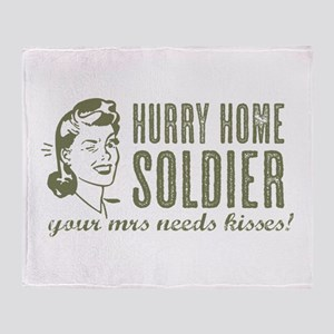 Hurry Home Soldier Throw Blanket