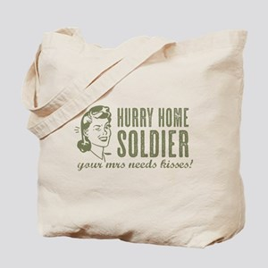 Hurry Home Soldier Tote Bag