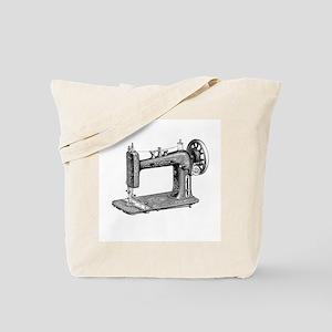 Vintage Sewing Machine Tote Bag