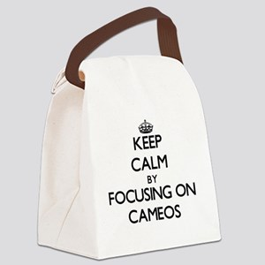 Keep Calm by focusing on Cameos Canvas Lunch Bag