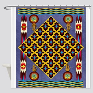 Maize Native American Motif Shower Curtain