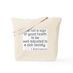 Good Health Tote Bag