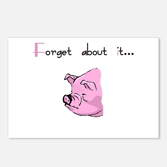 Forget About It Gangster Pig Postcards (Package of