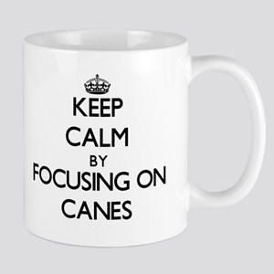 Keep Calm by focusing on Canes Mugs