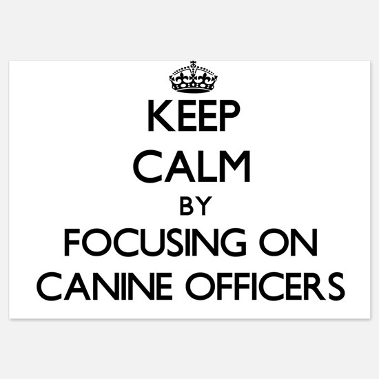 Keep Calm by focusing on Canine Office Invitations