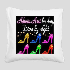 ADMIN ASST Square Canvas Pillow