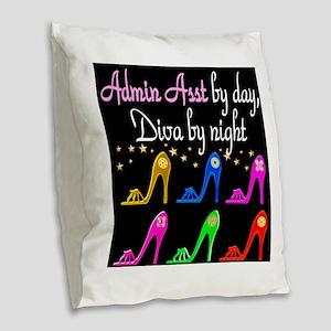 ADMIN ASST Burlap Throw Pillow