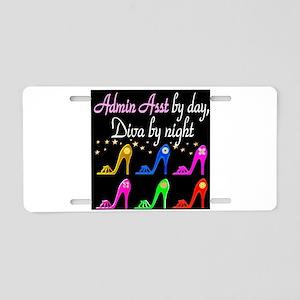 ADMIN ASST Aluminum License Plate