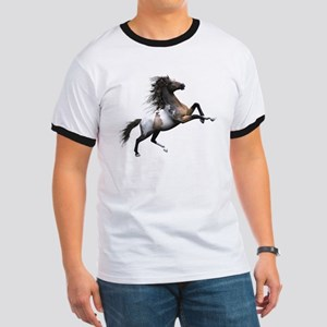 Mustang Horse In The Snow T-Shirt