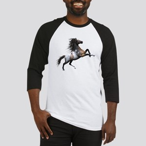 Mustang Horse In The Snow Baseball Jersey