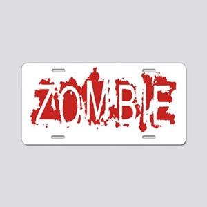 ZOMBIE Aluminum License Plate