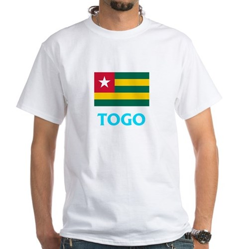 Togo Flag Classic Blue Design T-Shirt