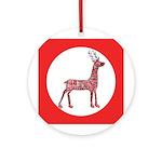 Folk Art Deer Ornament