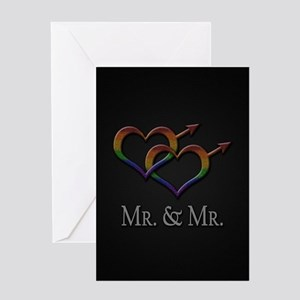 Mr. and Mr. Gay Pride Greeting Card