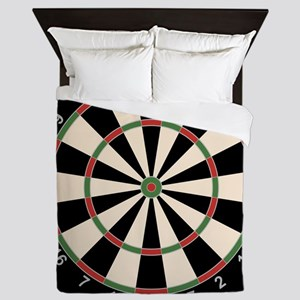 Dart Board Art Decor Queen Duvet