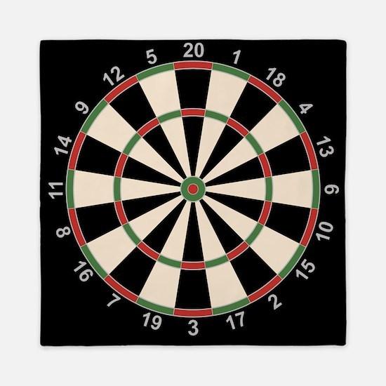 Dart Board Art Decor Queen Duvet
