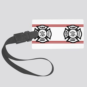 Firefighter Fire Chief Large Luggage Tag