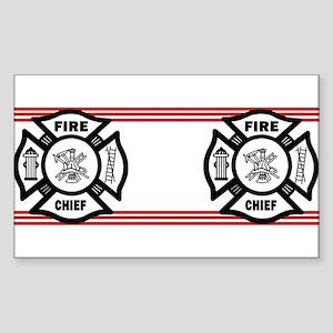 Firefighter Fire Chief Sticker