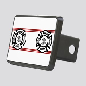 Firefighter Fire Chief Rectangular Hitch Cover