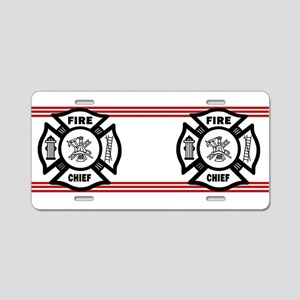 Firefighter Fire Chief Aluminum License Plate