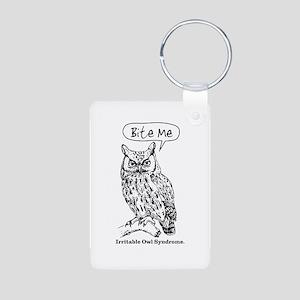 IRRITABLE OWL Aluminum Photo Keychain