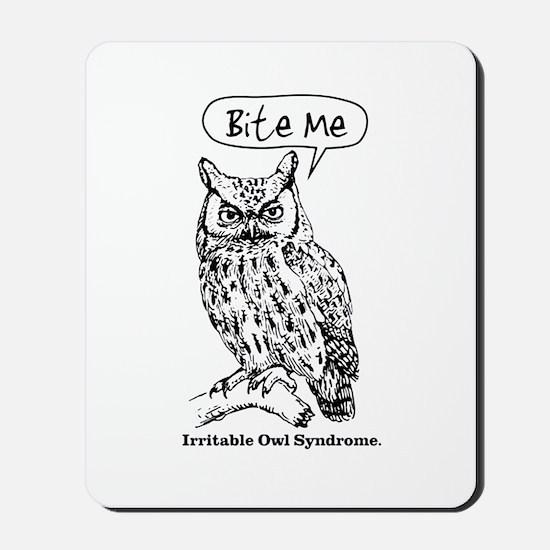 IRRITABLE OWL Mousepad