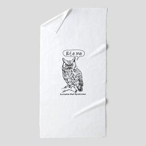 IRRITABLE OWL Beach Towel
