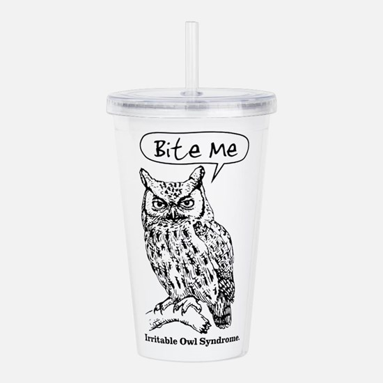 IRRITABLE OWL Acrylic Double-wall Tumbler
