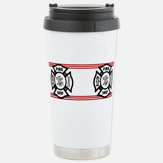 Firefighter Fire Chief Stainless Steel Travel Mug