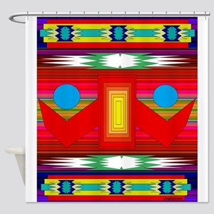 Native American Motif Shower Curtain