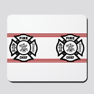 Firefighter Fire Chief Mousepad