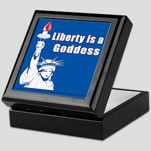 Liberty is a Goddess Keepsake Box