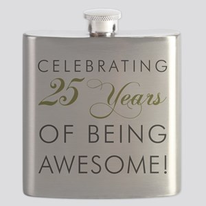25 Years Being Awesome Drinkware Flask