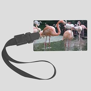 Flamingo Birds Large Luggage Tag