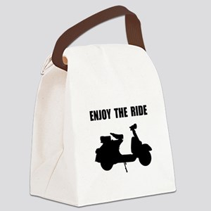 Enjoy Ride Moped Canvas Lunch Bag