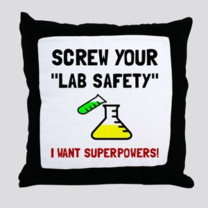 Lab Safety Superpowers Throw Pillow