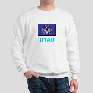 Utah Flag Classic Blue Design Sweatshirt