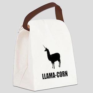 Llama Corn Canvas Lunch Bag