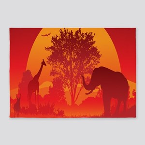 African Savanna 5'x7'Area Rug