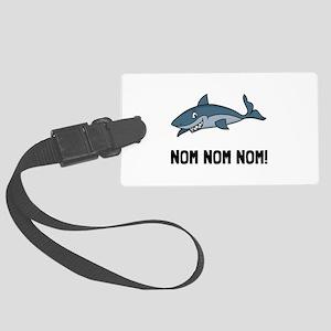 Sharks Nom Nom Nom Luggage Tag