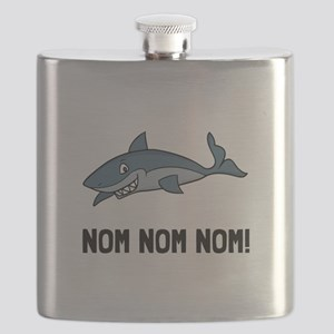 Sharks Nom Nom Nom Flask